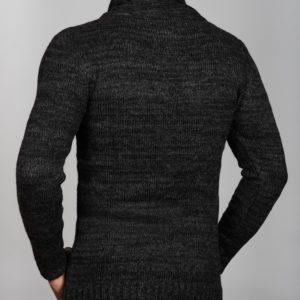 Vyriškas pilkos spalvos megztinis aukštu kaklu