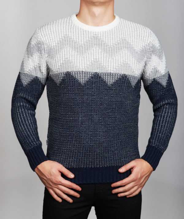 Mėlynas vyriškas megztinis