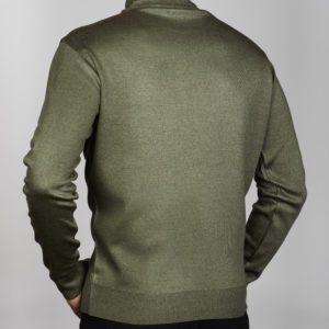 Vyriškas chaki spalvos megztinis aukštu kaklu