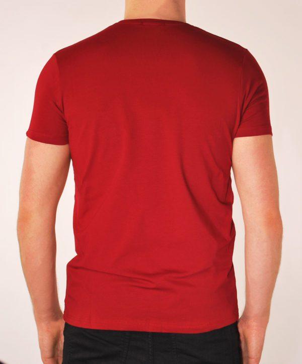 Vyriški bordo spalvos marškinėliai