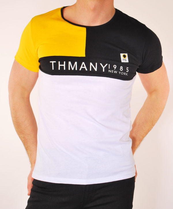 Vyriški geltonos spalvos marškinėliai