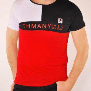 Vyriški raudonos spalvos marškinėliai