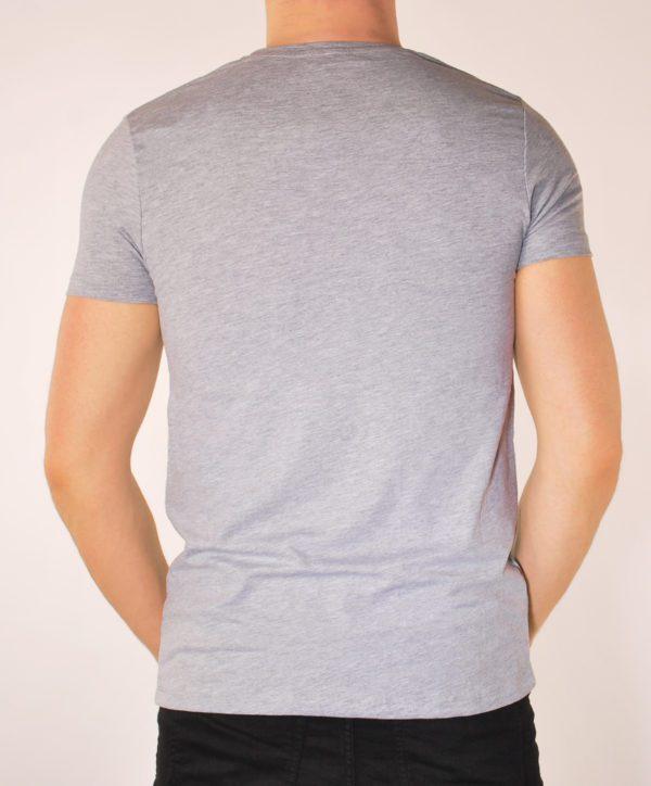 Vyriški pilkos spalvos marškinėliai