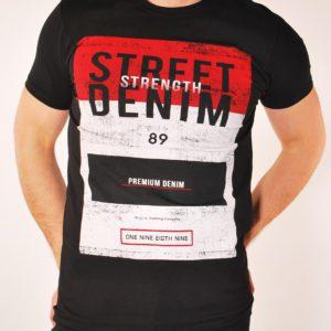 Vyriški juodos spalvos marškinėliai