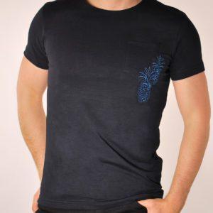 Vyriški mėlynos spalvos marškinėliai