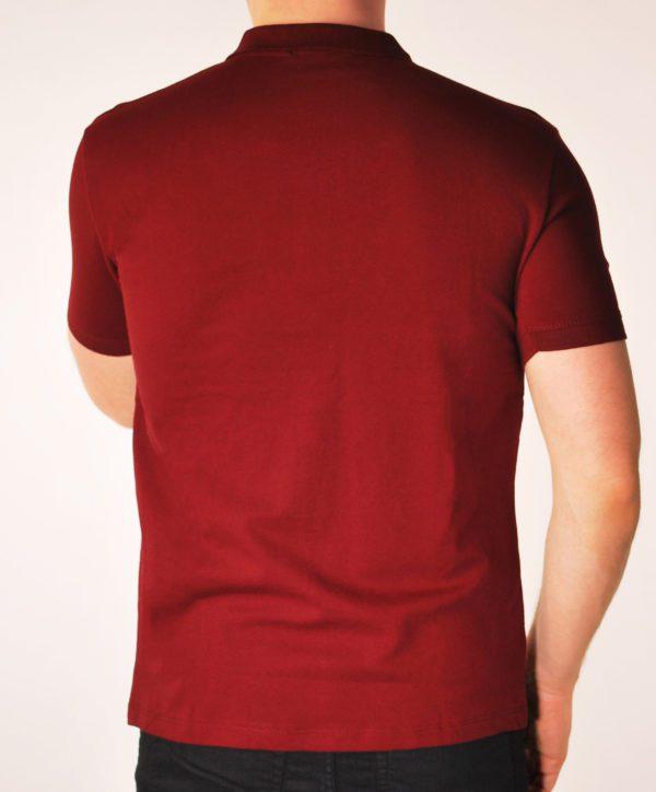 Vyriški bordo spalvos polo marškinėliai