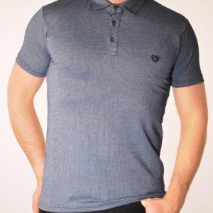 Vyriški pilkos spalvos polo marškinėliai
