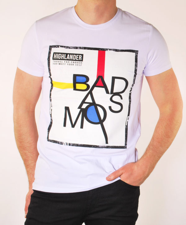 Vyriški baltos spalvos marškinėliai