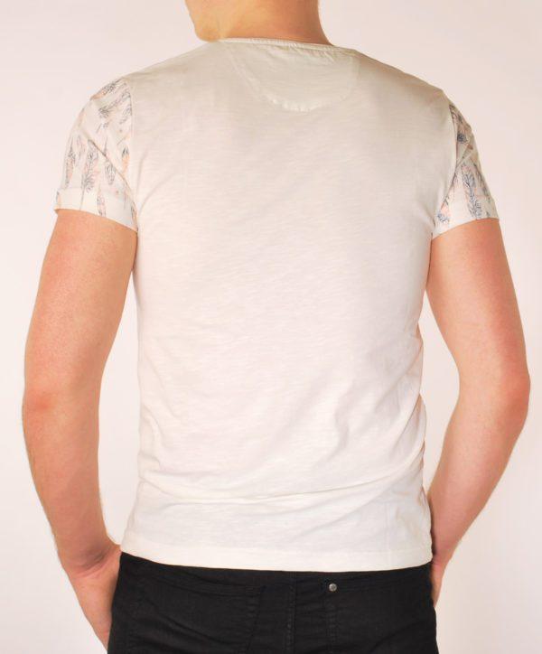 Vyriški dramblio kaulo spalvos marškinėliai
