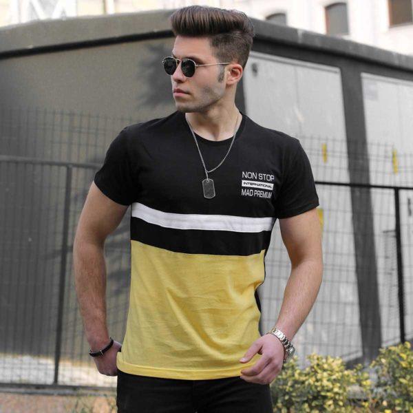 Juodi vyriški marškinėliai Non stop