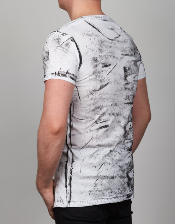 Balti vyriški marškinėliai Feeling