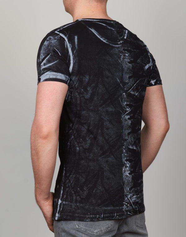 Juodi vyriški marškinėliai Feeling