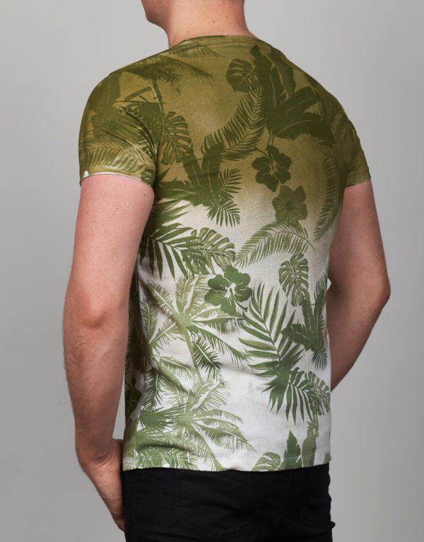 Žalsvi vyriški marškinėliai su palmėmis