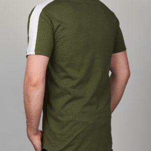 Chaki vyriški marškinėliai su juostele ant pečių