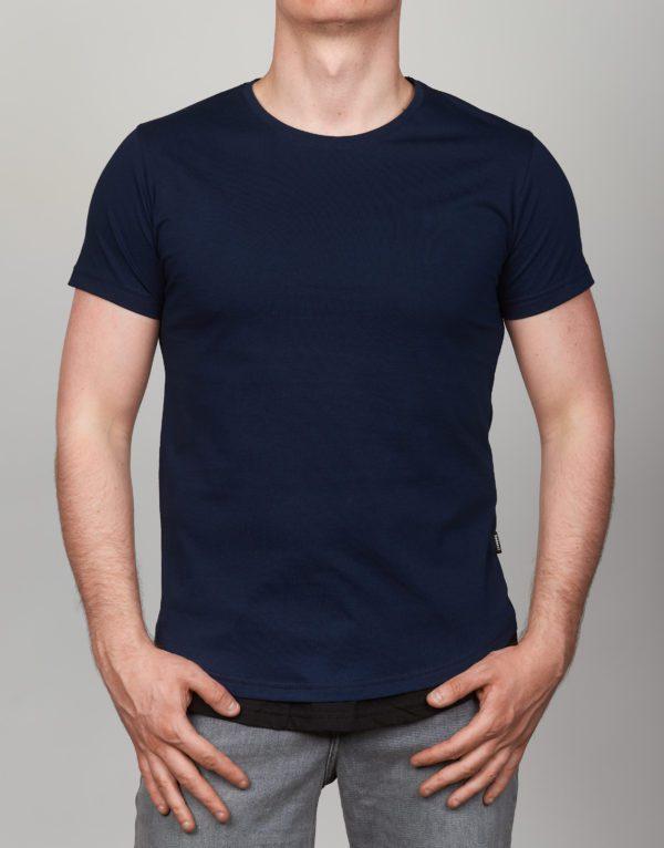Mėlyni vienspalviai vyriški marškinėliai Mdmx