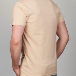 Rusvi vienspalviai kokybiški vyriški marškinėliai Mol