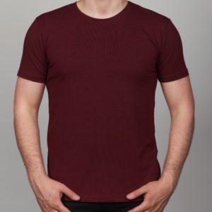 Bordo vienspalviai vyriški marškinėliai Moz