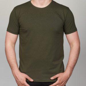 Chaki vienspalviai vyriški marškinėliai Moz