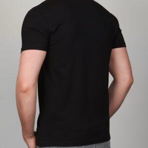 Juodi vienspalviai vyriški marškinėliai Moz