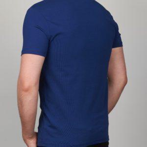 Mėlyni vienspalviai vyriški marškinėliai Moz