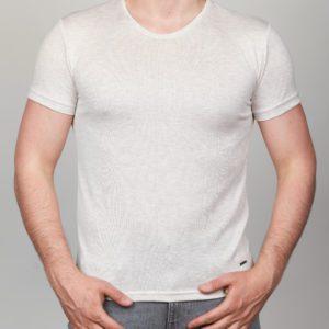 Rusvi vienspalviai vyriški marškinėliai Nis