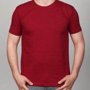 Bordo vienspalviai vyriški marškinėliai Rok
