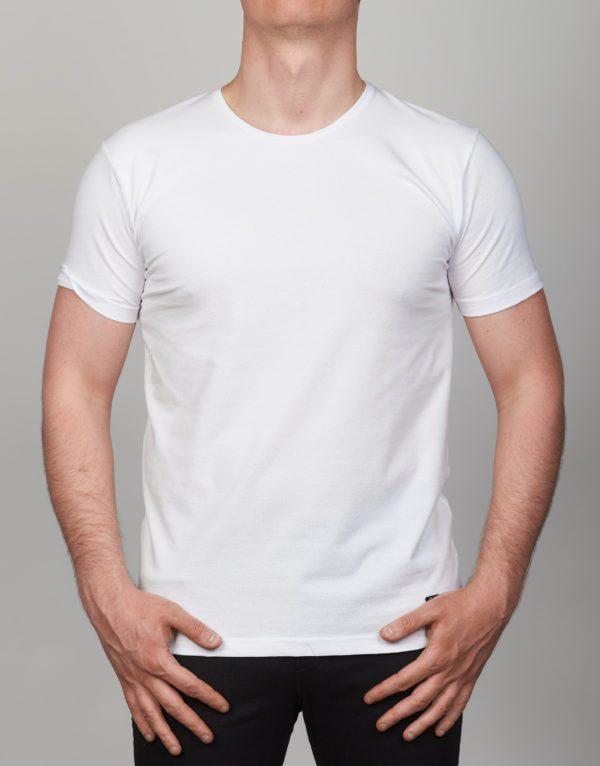 Balti vienspalviai vyriški marškinėliai Rok